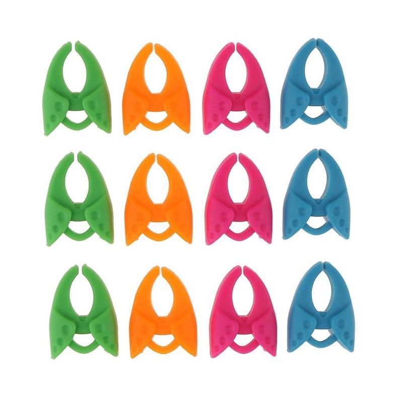 12 Pieces Assorted Random Color Bobbin Holders Clips