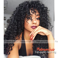 High Density Kinky Curly Wig Heat Resistant Fiber Hair Wigs Synthetic Lace Front Wig With Baby Hair Free Shipping