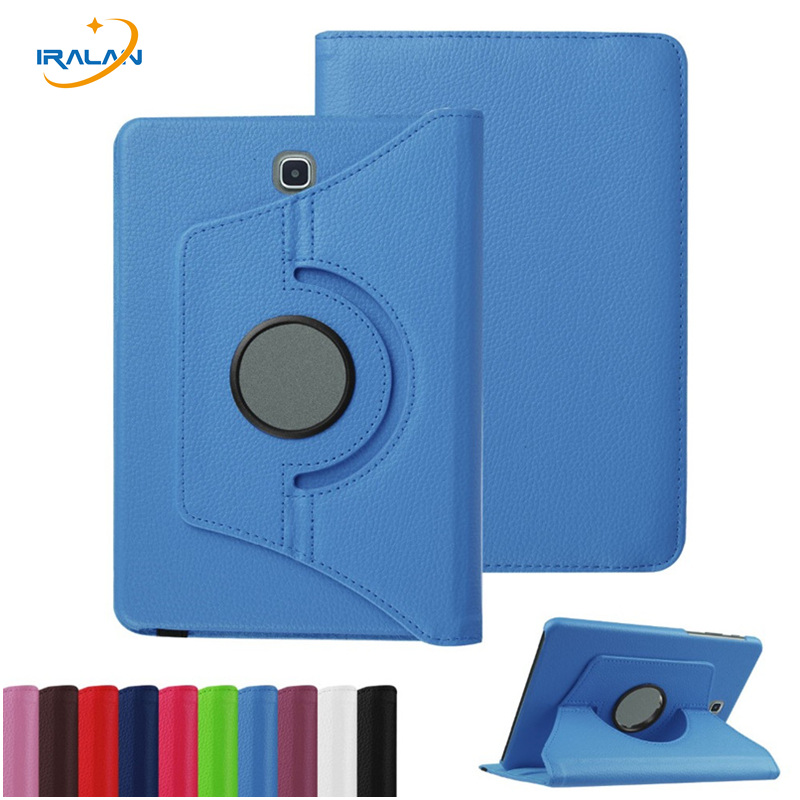 360 Degree Rotating Luxury Case for Samsung Galaxy Tab S2 8.0 T710 T713 T715 T719 PU Leather Stand Tablet Cover+stylus Pen+film