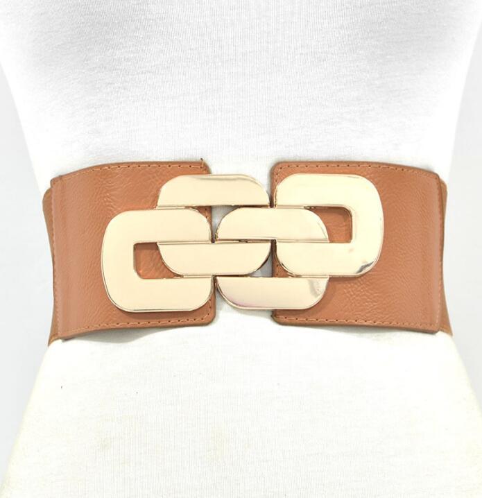 Women's Runway Fashion Elastic Cummerbunds Female Dress Corsets Waistband Belts Decoration Wide Belt R1473