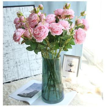 61cm Artificial Flower Rose Silk Mariage Birthday Party Western  Wedding Flowers Ranunculus Asiaticus Branch Home Decor