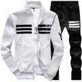 New Winter Jacket Mens Hoodies and Sweatshirts Sweat Suits Oversized Male Hooded Sets Sporting Suit Brand Mens Tracksuit Sets 90