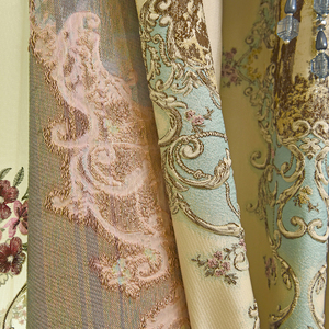 Image 3 - Top luxury jacquard 3D deer pattern curtains for living room with high quality embroidered tulle for bedroom/kitchen/hotel