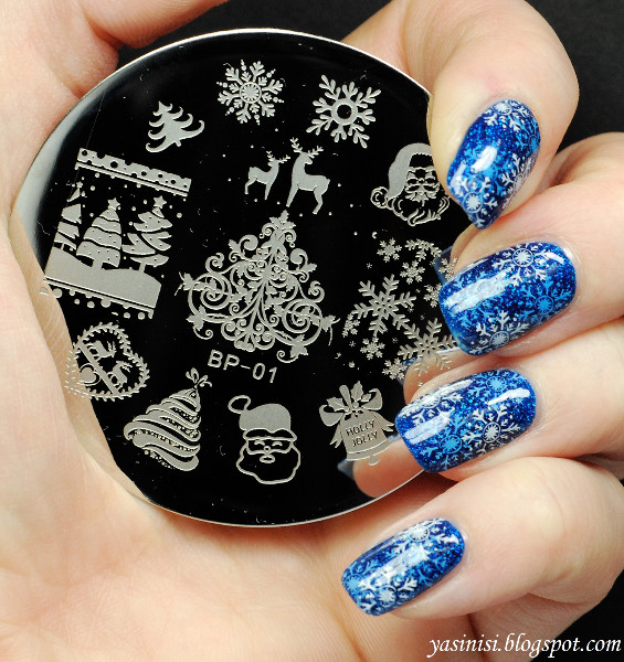 Bp01 Nail Art Sting Plates Xmas Image Round Stainless Steel St Polish Template Christmas Stencils For Nails 16848 In Templates From