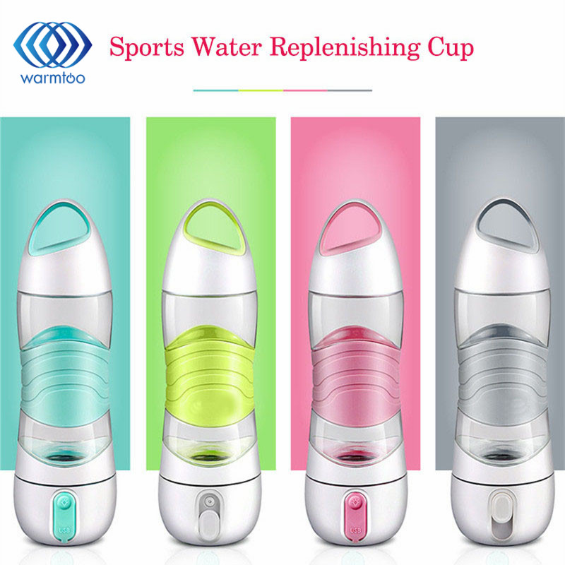 Portable Humidifier Spray 400ML Water Bottles Intelligent Outdoor Drinking Cup Sports Spray Water Bottle with Luminous Led Light lucky shot drinking roulette game 6 cup set