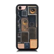 Чехол для телефона для Apple iPhone 7 случаях сумка Обложка Vintage Динамик художественным принтом Мягкие TPU & Hard ПК смартфон оболочки для iPhone 6 6S плюс