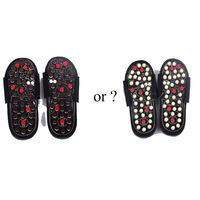 New Foot Massage Slippers Health Shoe Sandal Reflex Massages Rotating Acupuncture Foot Healthy Massage Shoes