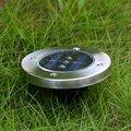Movido A Energia Solar 3LED Luz Subterrânea Enterrado Luz Solar Paisagem Iluminação À Prova D' Água Da Lâmpada Ao Ar Livre Lâmpada Do Gramado Solar Jardim Decoração
