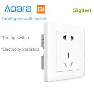Image 2 - Originale Xiaomi casa Intelligente Aqara Controllo Della Luce Intelligente ZiGBee Interruttore Presa A Muro Spina Tramite Smartphone Xiaomi APP A Distanza Senza Fili