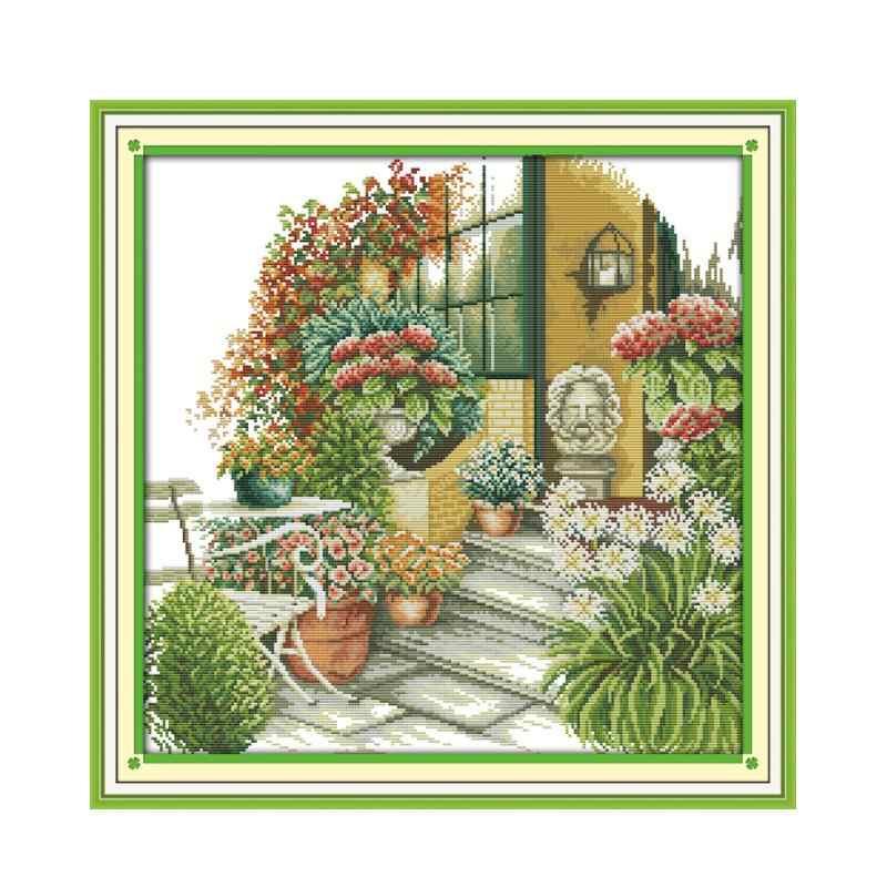 DIY Printed Cross Stitch Kits Embroidery Kits The Beautiful Flower House