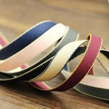 20 meters 10mm polyester Cotton ribbon gift packing belt wedding party Christmas embellishment DIY Apparel Sewing