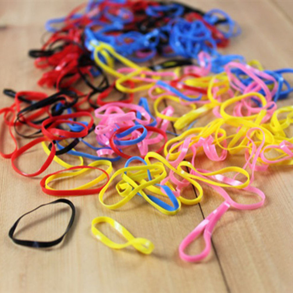 Special Products Necessaries Excellent Personality Funny Gift Goods 250pcs/bag Rubber Band Girls Hair Ring