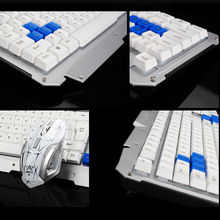 2017 HK1600 2.4GHz Wireless Multimedia Ergonomic Usb Gaming Keyboard Metal + 6 Buttons Wireless Mouse Sets For Laptop / Computer