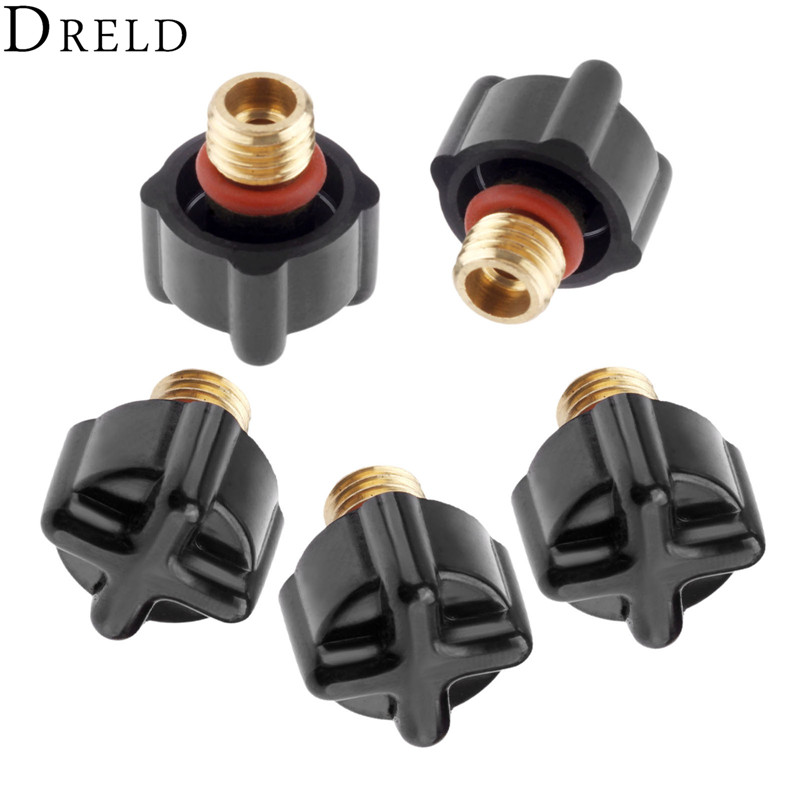 DRELD 5pcs TIG Welding 41V33 Short Back Caps Fit For TIG Welding Torches WP-9 WP-20 WP-25 Cutting Consumable Parts 2pk