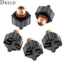 DRELD 5pcs TIG Welding 41V33 Short Back Caps Fit for TIG Welding Torches WP-9 WP-20 WP-25 Cutting Consumable Parts 2pk dreld 5pcs tig welding 41v35 medium back caps fit for wp 9 wp 20 wp 25 tig welding torches cutting consumable parts 5pk