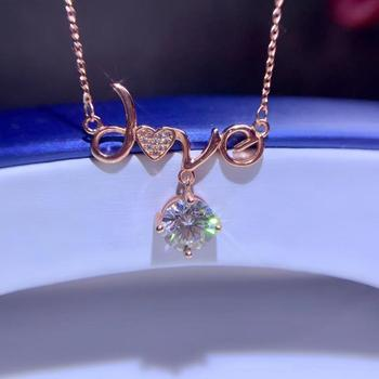 love style confession gift  crackling  moissanite pendant for necklace with silver jewelry