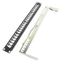 BELNET FTP 24 Port Unload Modular Blank Patch Panel Incl Cable Manager Bar Front Panel With