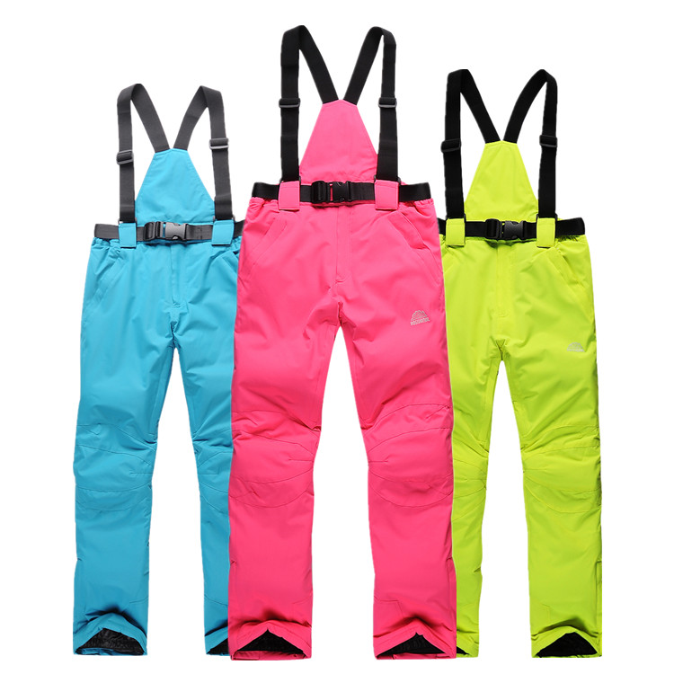 Free Shipping 2015 Latest High Quality Women and Men Ski Pants  Snowboard pants Waterproof Windproof BreathableTrousers Pants free shipping the new 2015 men couples snowboarding pants big yards double plate ski pants waterproof and windproof