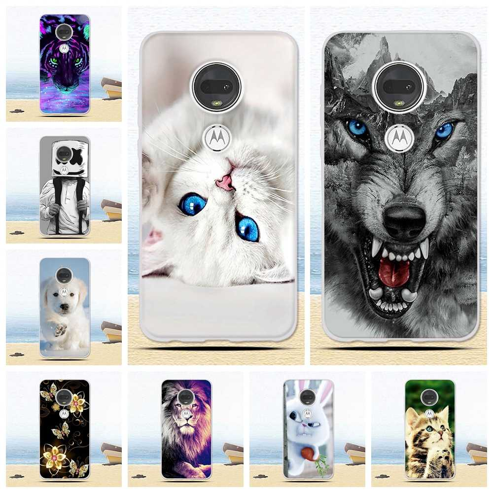 for Motorola Moto G7 Plus Case Moto G7 Play Case Cartoon Soft TPU Silicone Back Cover Phone Case For Motorola G7 G 7 Power Play