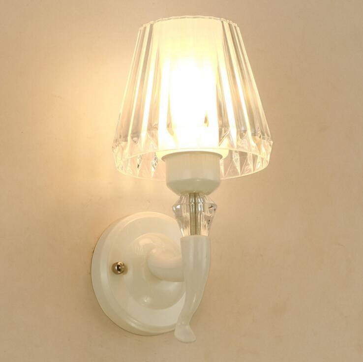 Теплые и простые акриловые Бра прикроватный спальня бра Симпатичные Белый бра светодио дный осветительное оборудование светодио дный ламп