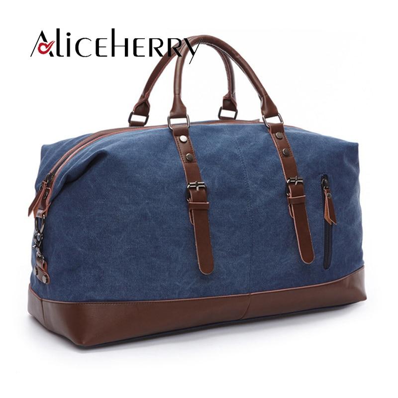 2018 New Arrive Men Traveling Bags Vintage Canvas Bags Fashion Luggage Zipper Travel Portable Duffel Weekend Bag