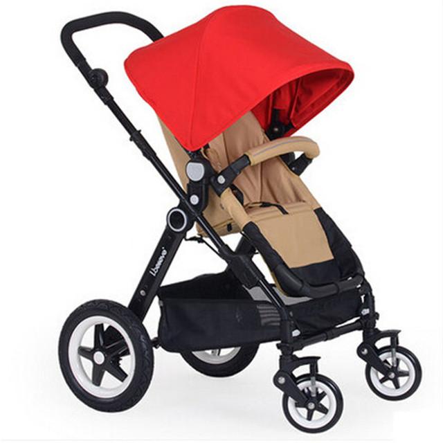 Ligero cochecitos de bebé del cochecito de bebé cochecito plegable ligera de verano paraguas coche amortiguadores paisaje alta cochecitos