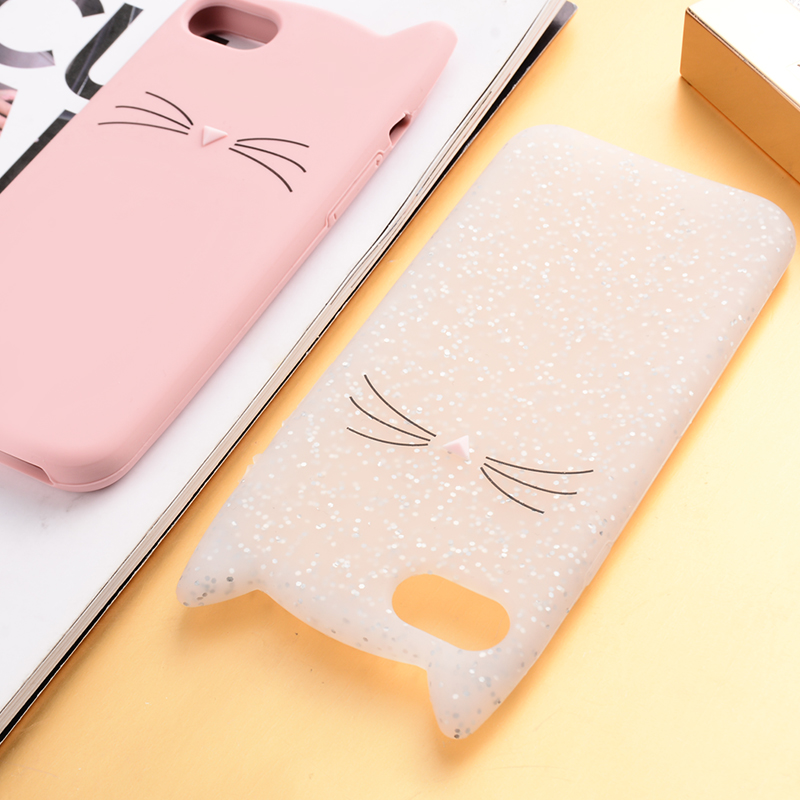Image 5 - for iphone 6 6S 7 8 Plus 5S SE 5C couple Squishy case Love Heart Glitter Stars Luck Cat Case Dynamic Liquid Quicksand Cover-in Fitted Cases from Cellphones & Telecommunications