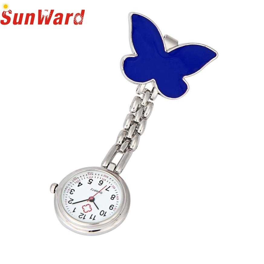 Miracle Moment Attractive Butterfly Design Nurse Clip-on Fob Brooch Pendant Hanging Watch Pocket Watch New OT9