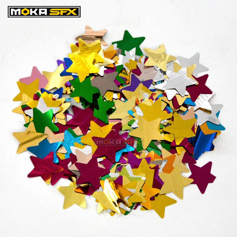 2kglot colorful star butterfly circular  rainbow confetti machine foil paper wedding celebration decoration for stage effect