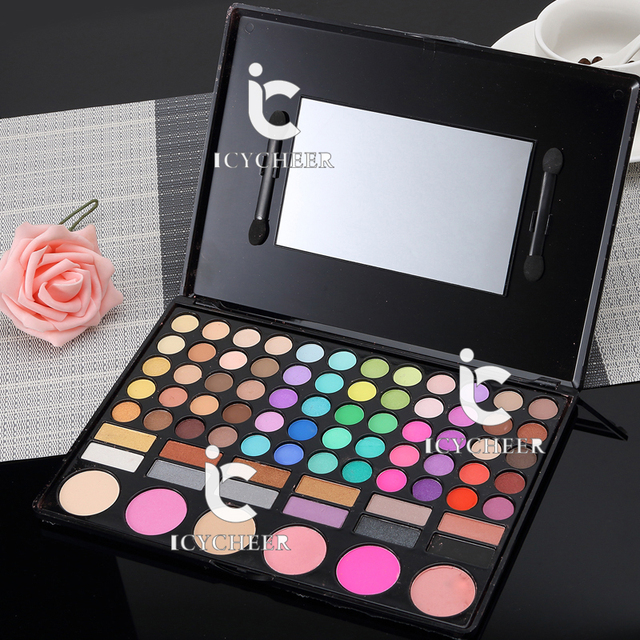 78 Colores de Maquillaje Sombra de ojos Shimmer Mate Shadding Corrector En Polvo Sombra de Ojos