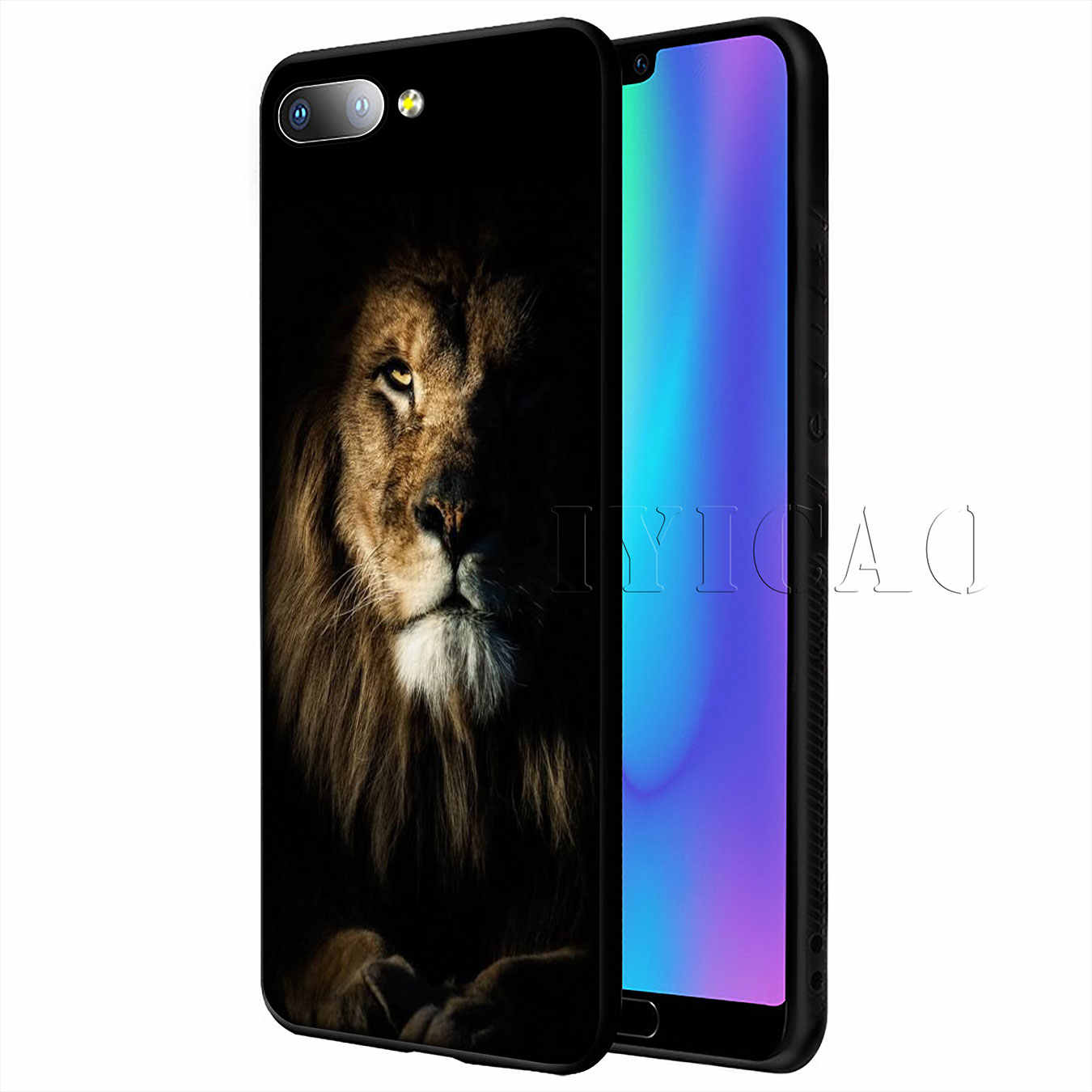 IYICAO bear tiger lion Soft Case for Huawei P20 Pro P10 P8 P9 P30 Lite Mini 2017 P Smart 2019 Cover