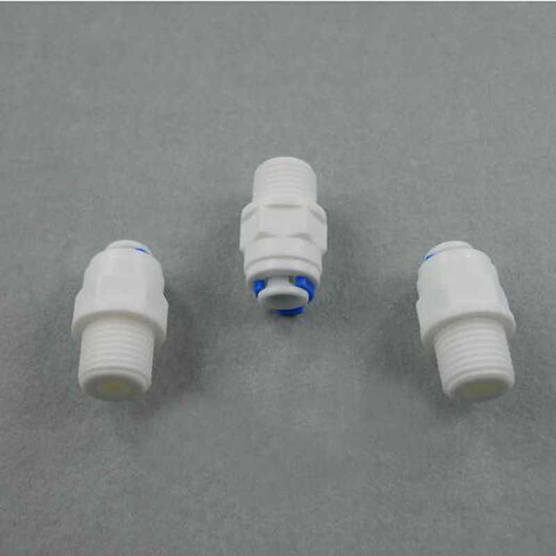"""1/4 """"수나사-1/4"""" OD 튜브 PE 파이프 피팅 호스 스트레이트 퀵 커넥터 수족관 RO 워터 필터 역삼 투 시스템"""