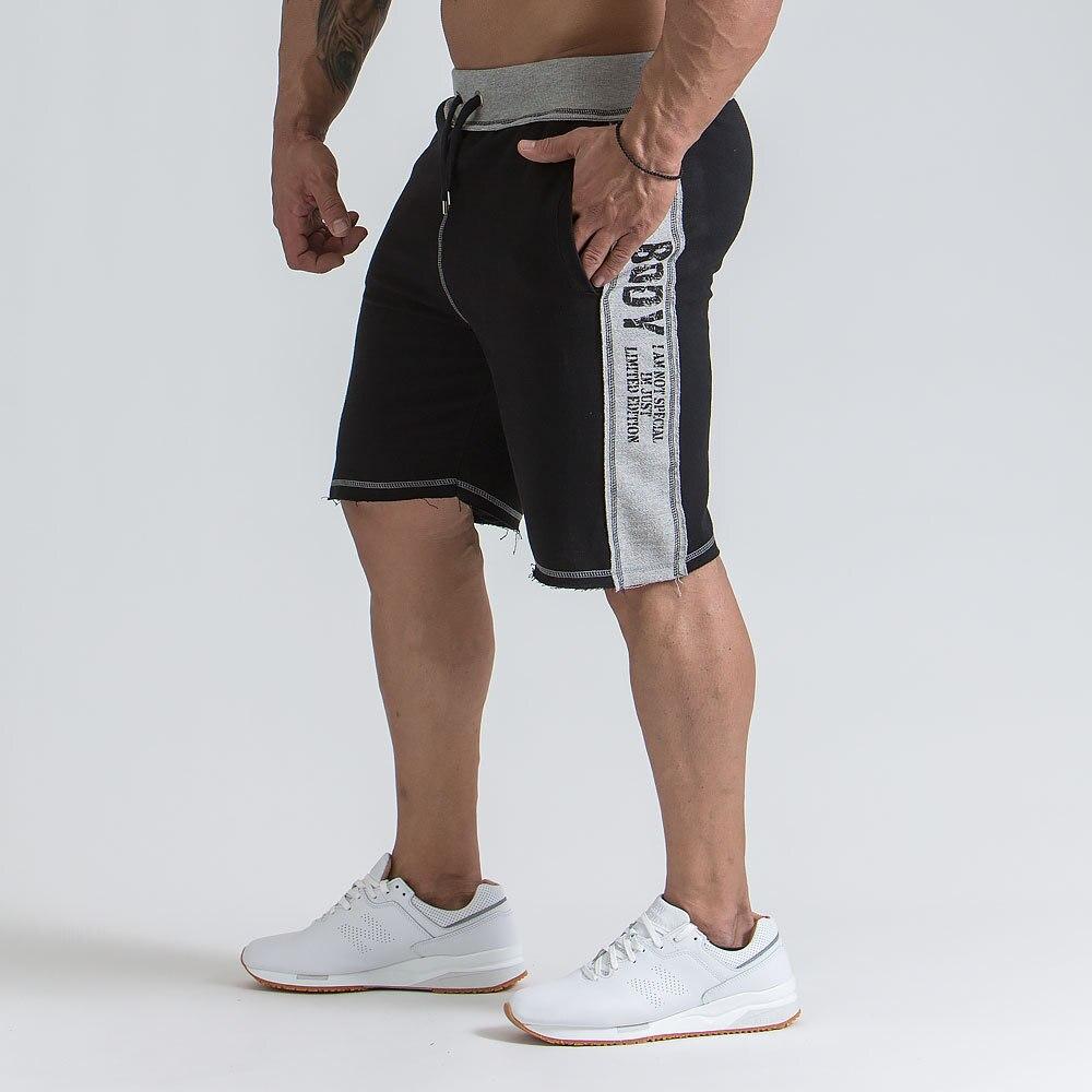 Shorts Men Bermuda 2018 Summer Men Beach Hot Cargo Simple Letter Solid Men Boardshorts Male Brand MenS Short Casual Fitness