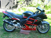 Hot Sales,Could DIY any color For Honda CBR1100XX Blackbird 1996 2007 1100XX Black & Red Motorcycle Fairings (Injection molding)