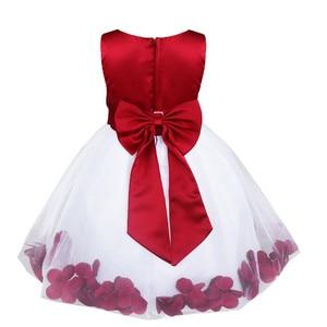 Image 4 - Tiaobug infantil vestido de flor infantil meninas vestidos pétalas elegante pageant formal vestido da menina de flor para vestidos de festa de casamento