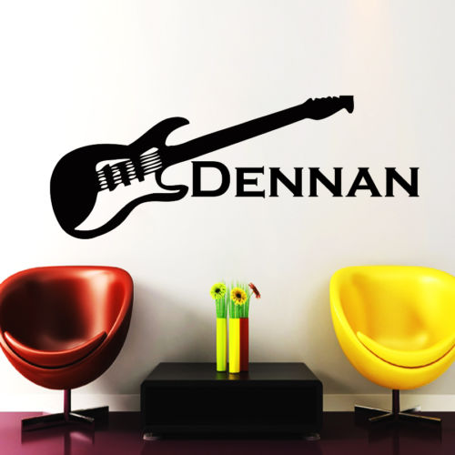 Online Get Cheap Name Wall Sticker Guitar Aliexpresscom - Guitar custom vinyl stickers