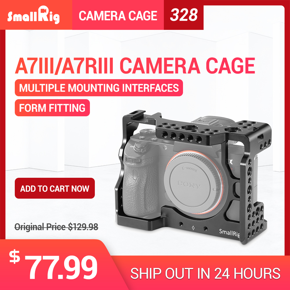 SmallRig DSLR A73 Cage A7R3 Camera Cage for Sony A7R III / A7M3/ A7 III With Arri Locating Hole 4/1 8/3 Threads hole 2087