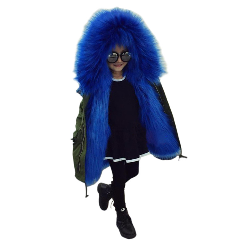 fashion children down coat solid faux fur hooded overcoat for 2-12yrs kids boys girls Winter thicken down jacket outerwear hot girls down jacket for boys coat fashion rainbow children outerwear winter snow wear thicken hooded coat with faux fur collar