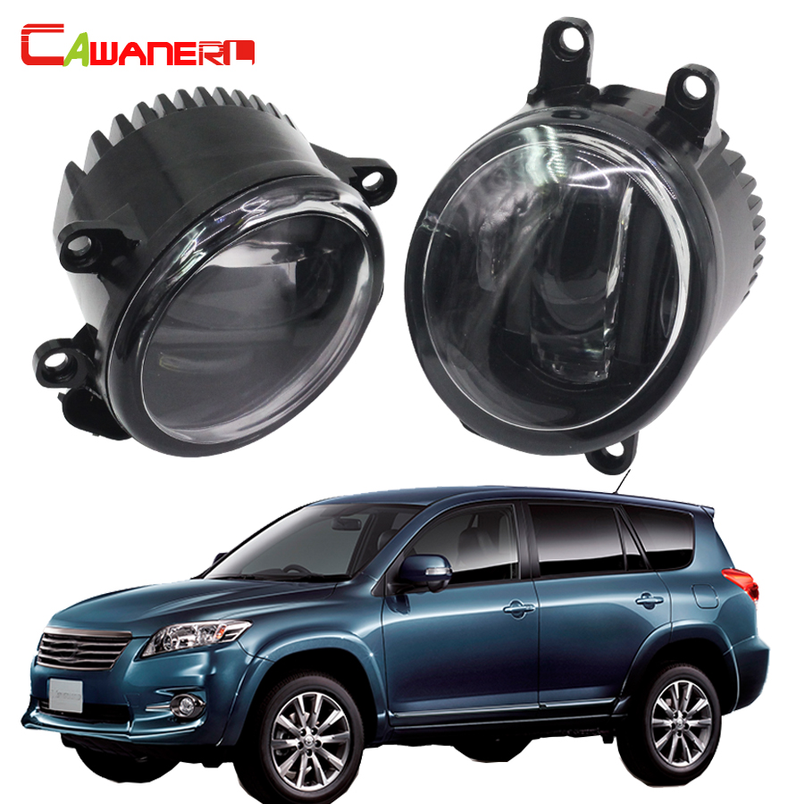 Cawanerl 2 X Car LED Fog Light Daytime Running Lamp DRL White 12V Styling For Toyota Vanguard 2006-2012 cawanerl 2 x car led fog light drl daytime running lamp accessories for nissan note e11 mpv 2006