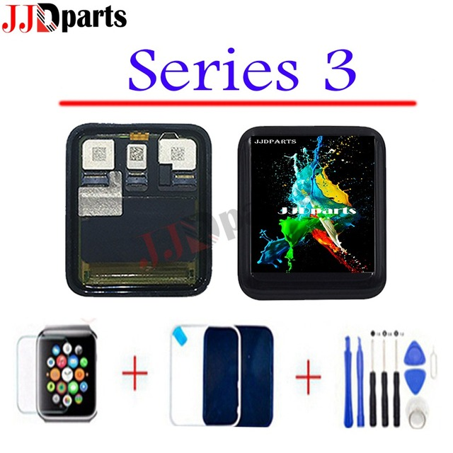 Sport/Sapphire For Apple Watch 3 LCD Display Touch Screen Assembly GPS+Cellular series 3 lcd For