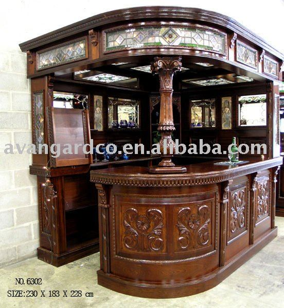 Slido barra de madera mueble del gabinete bar en Muebles de la