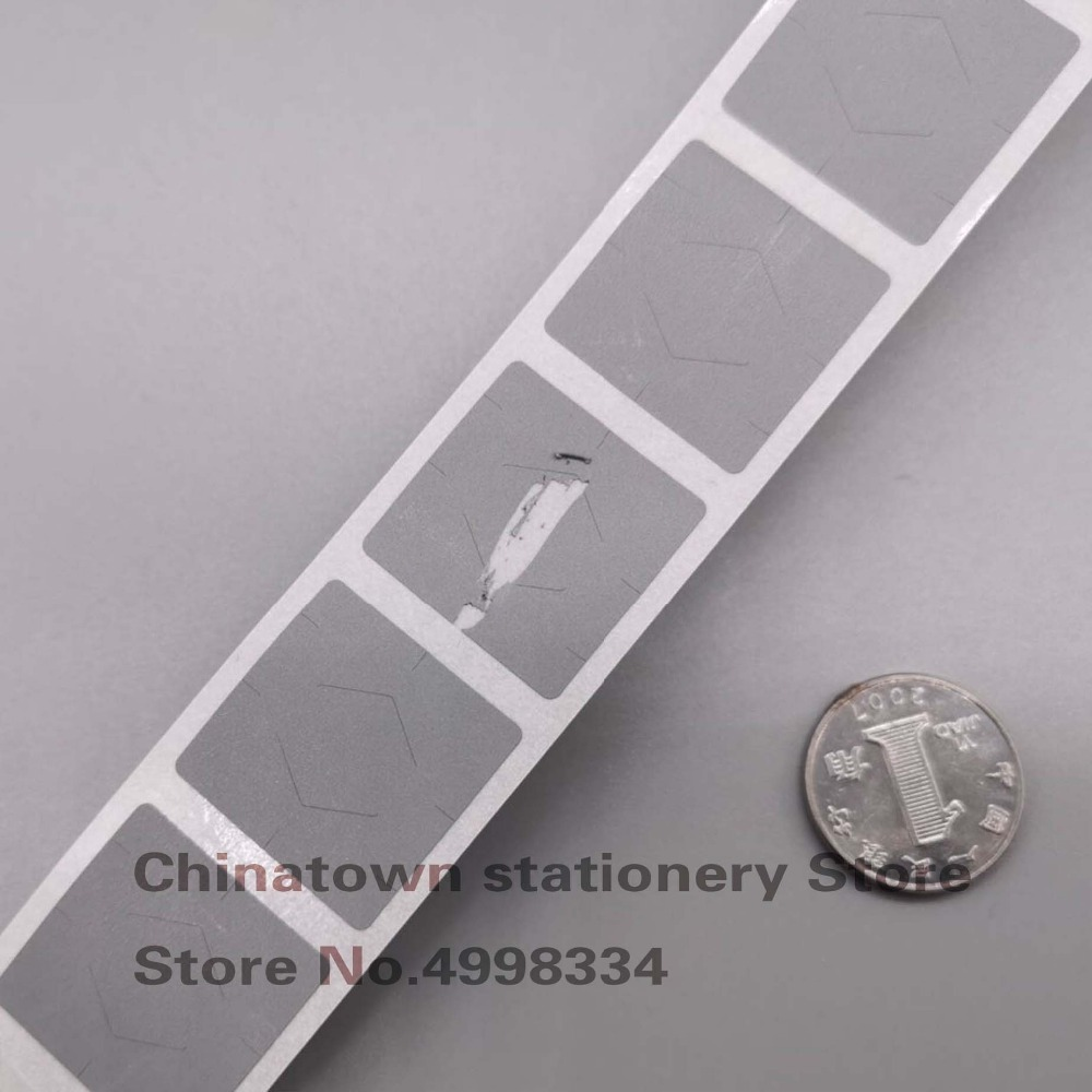 100pcs 20x20mm  GRAY Adhesive SCRATCH OFF Stickers DIY Manual Label Tape Hand Made Scratched Stripe Card Film