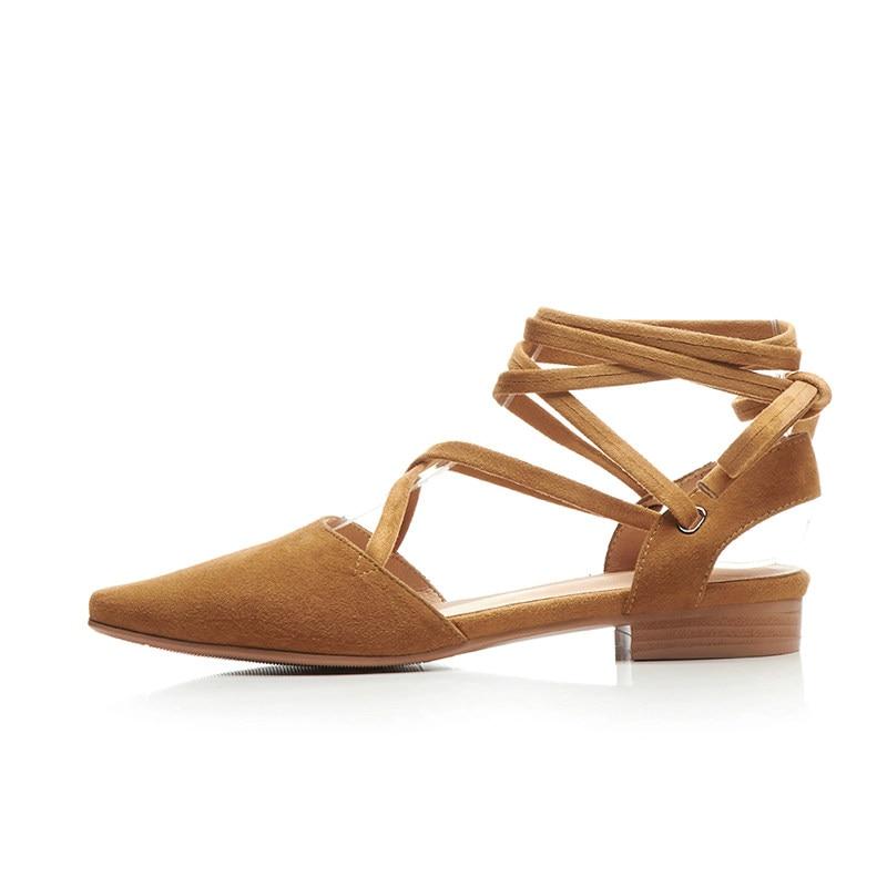 Noir Cheville Carré 34 Bout Bas Chaussures Vache brown Sangle 39 Daim Talon Pompes Femmes En Szie 2018 Qutaa Westrn Style Dames qSzwHpxtT