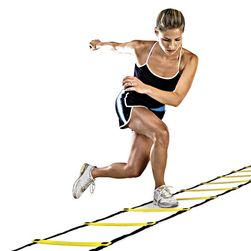 New Durable 16 rung 26 Feet 8 M Agility Ladder for Soccer and Football Speed Training Wi ...