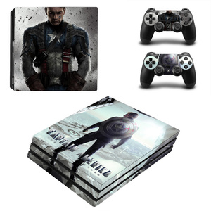 Image 3 - Spiderman Design Skin Sticker For Sony Playstation 4 Pro Console & 2PCS Controller Skin Decal For PS4 Pro Game Accessories