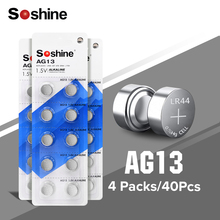 цена на 40pcs/lot 28mah AG13 ag 13 357A Pila LR44 SR44 lr44 Button Coin Cell Battery Batteries 1.5V Alkaline LR1154 Watch Calculator