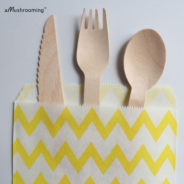 Couverts jetables, cuillères à personnaliser et à personnaliser, couteaux, fourchettes, Dessert, vaisselle de table, pour mariage ou fête, 25 ensembles