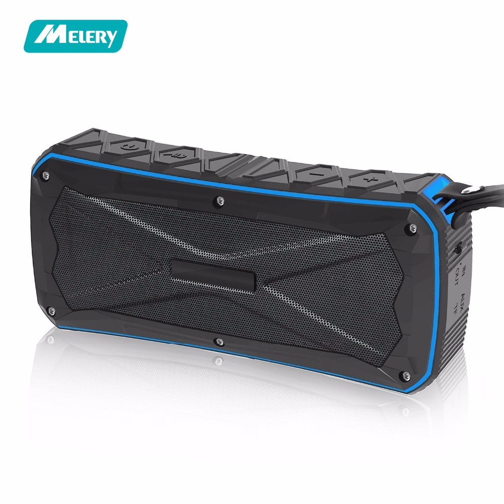 Bluetooth Speaker Outdoor Portable Wireless Waterproof Subwoofer Shockproof Stereo Soundbar Support TF 12H Playtime for Camping
