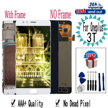 """5.5"""" 3T LCD For Oneplus 3T LCD Display A3010 A3000 Touch Screen Digitizer Assembly Replacement with Frame For Oneplus3T"""
