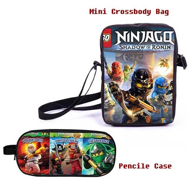 Мультфильм Мини Crossbody Сумка для Детей Кошелек Lego Ninjago Сообщение Сумка для Подростков Мальчиков Гирс
